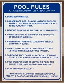 Pool & Spa Rules -